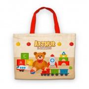 Bolsinha De Nylon Toys Brinquedos Antigos Personalizada