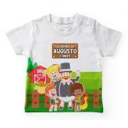 Camiseta Infantil Festa Fazendinha Do Bita Lembrancinha