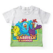 Camiseta Infantil Festa Galinha Pintadinha Lembrancinha