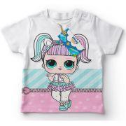 Camiseta Infantil Festa Lol Surprise Unicórnio Lembrancinha
