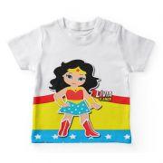 Camiseta Infantil Festa Mulher Maravilha Lembrancinha