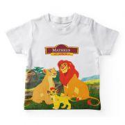 Camiseta Infantil Festa Rei Leão Lembrancinha