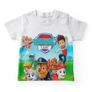 Camiseta Infantil Festa Patrulha Canina  Kit com 50