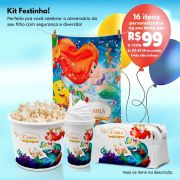 Kit Mini Festinha da Pequena Sereia Ariel