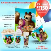 KIT MINI FESTINHA MASHA E O URSO