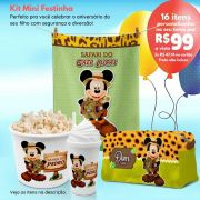 Kit Mini Festinha Mickey Safari
