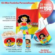 Mini Festinha Mulher Maravilha Personalizada