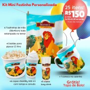 KIT MINI FESTINHA REI LEÃO