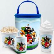 Kit Presente Festa Angry Birds Frasqueira Balde Copo Caneca