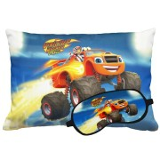 Kit Soninho Blaze And The Monster Machines Almofada E Máscara Para Dormir Personalizados