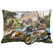 Kit Soninho Dinossauros Almofada E Máscara Para Dormir Personalizados