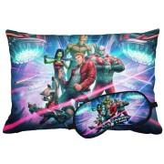 Kit Soninho Guardiões Da Galáxia Almofada E Máscara Para Dormir Personalizados
