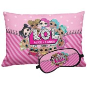 Kit Soninho Lol Surprise Almofada E Máscara Para Dormir Personalizados