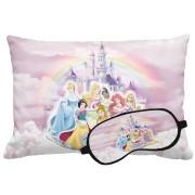 Kit Soninho Princesas Almofada E Máscara Para Dormir Personalizados
