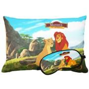 Kit Soninho Rei Leão Almofada E Máscara Para Dormir Personalizados