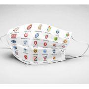 Mascara de Tecido Tactel Dupla Camada Reutilizável  ref. Antivirus Brands