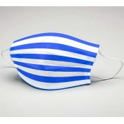 Mascara de Tecido Tactel Dupla Camada Reutilizável  ref. futebol azul e branco hzt