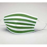 Mascara de Tecido Tactel Dupla Camada Reutilizável  ref. Futebol Verde e Branco hzt