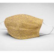 Mascara de Algodão em Tricoline Dupla Camada Reutilizável  ref. 060 ornamentos fd amarelo