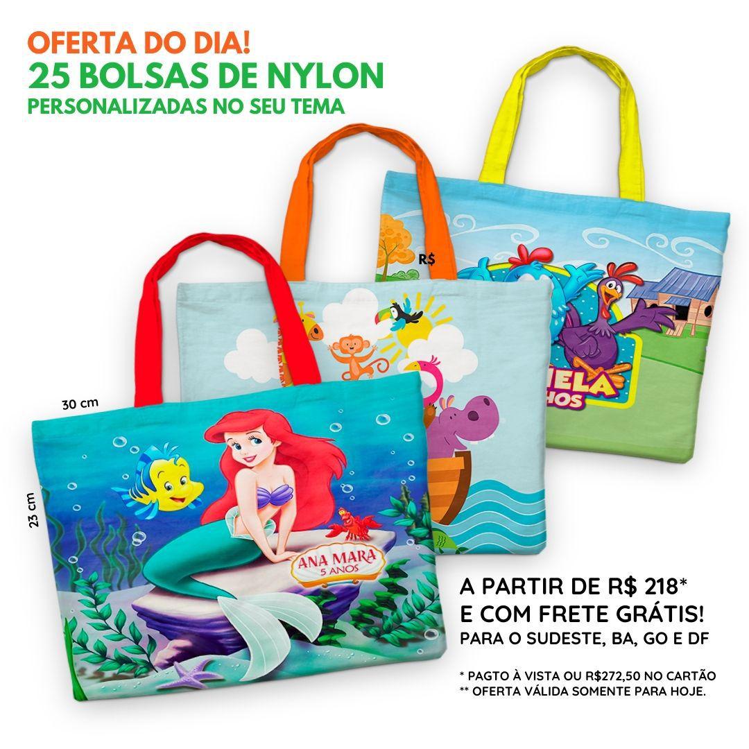 25 Bolsinhas de Nylon Personalizadas   - PLACT ZUM