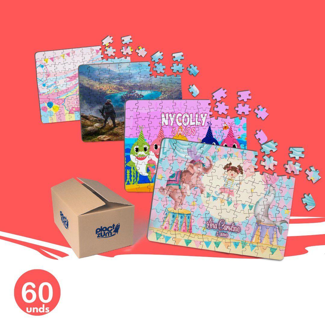 60 Quebra-Cabeças Personalizados Para a Sua Festa  - PLACT ZUM