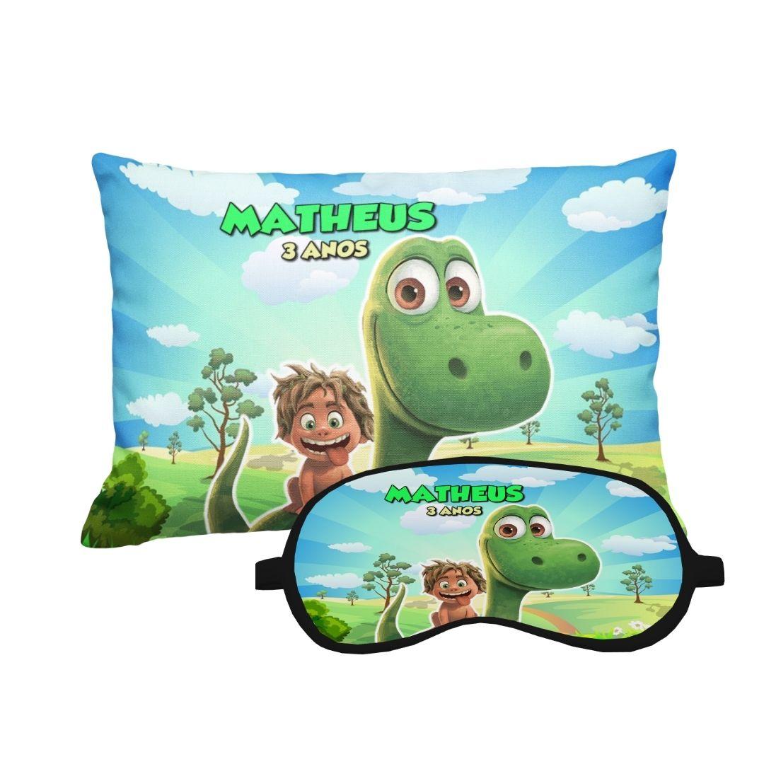 Almofada Com Máscara Festa Bom Dinossauro  Kit com 20  - PLACT ZUM