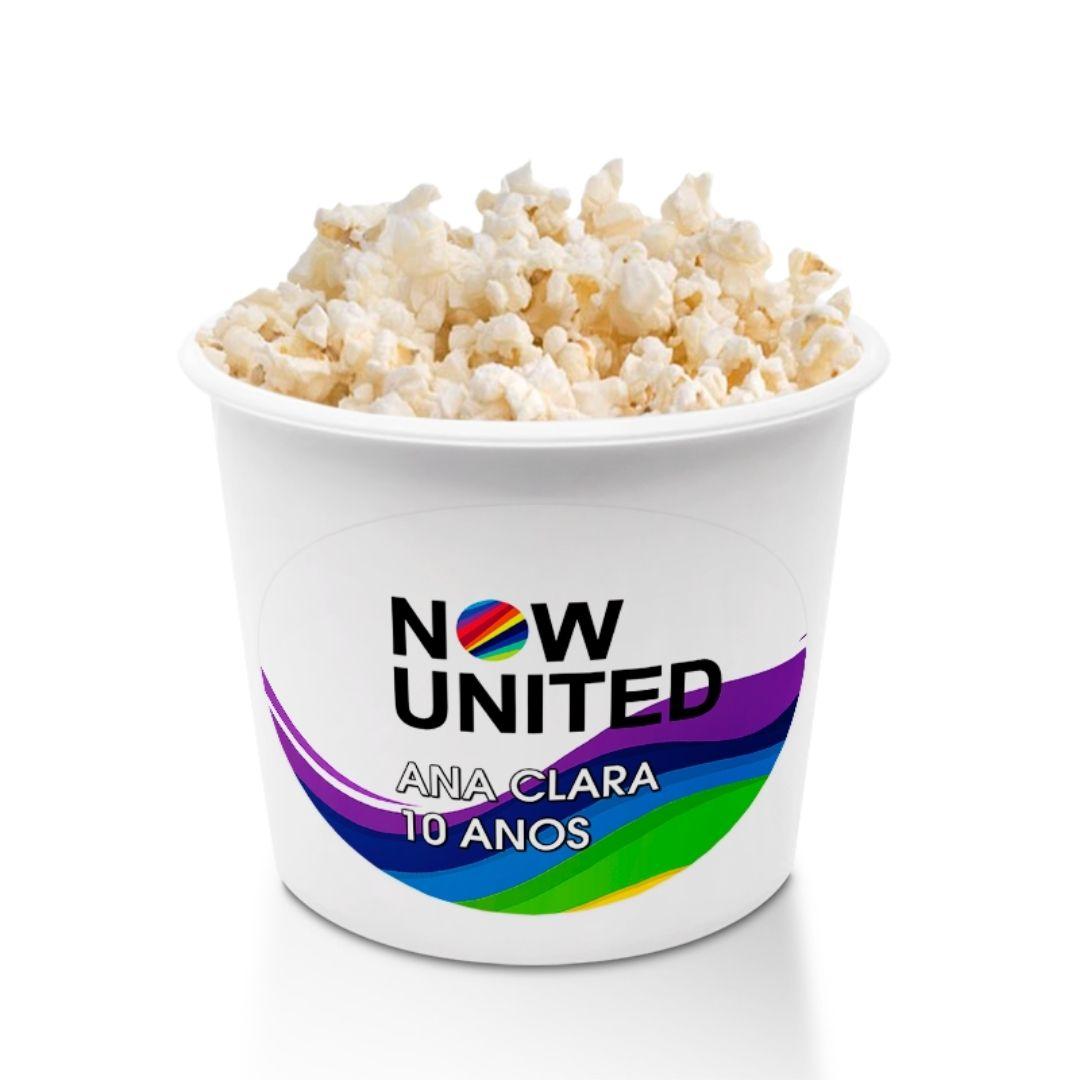Balde Pipoca E Copo 500Ml Festa Now United  Kit com 40  - PLACT ZUM