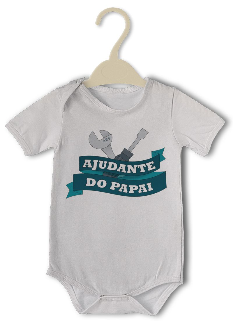 Body Bebê Divertido Ajudante Do Papai  - PLACT ZUM