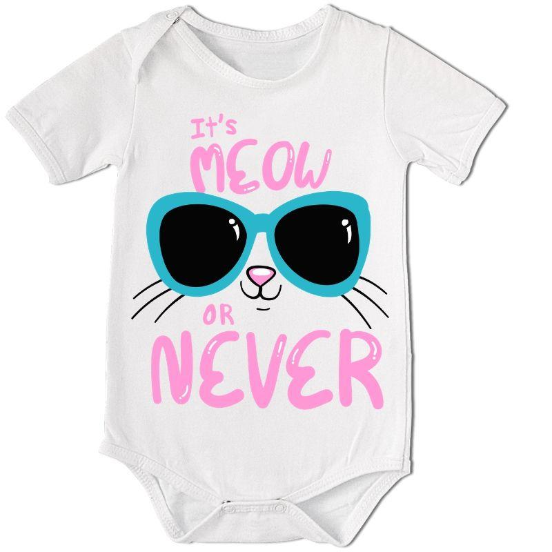Body Bebê Divertido It´S Meow Or Never  - PLACT ZUM