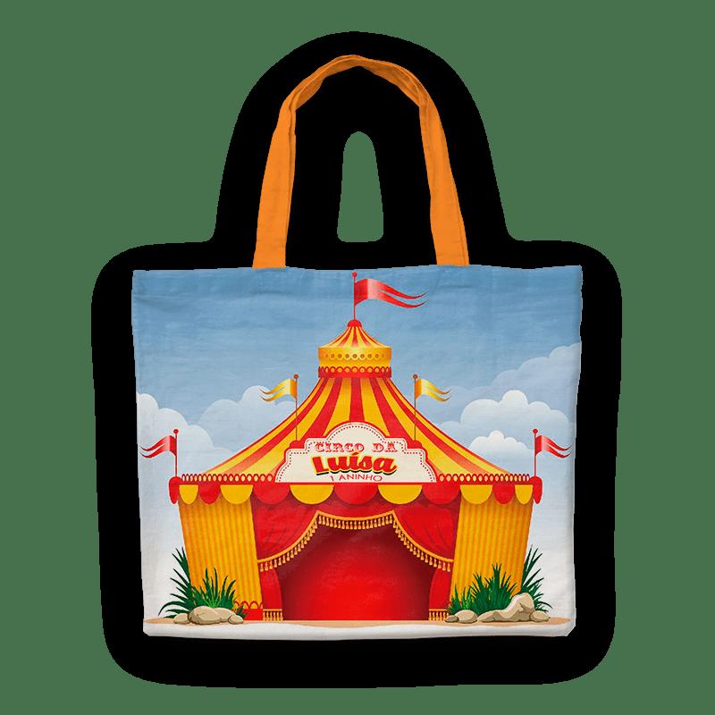 Bolsinha de Nylon No Tema da Sua Festa Circo  - PLACT ZUM