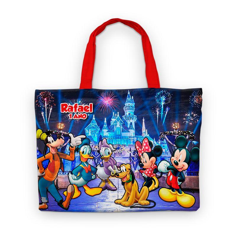 Bolsinha De Nylon Castelo Da Disney Personalizada  - PLACT ZUM