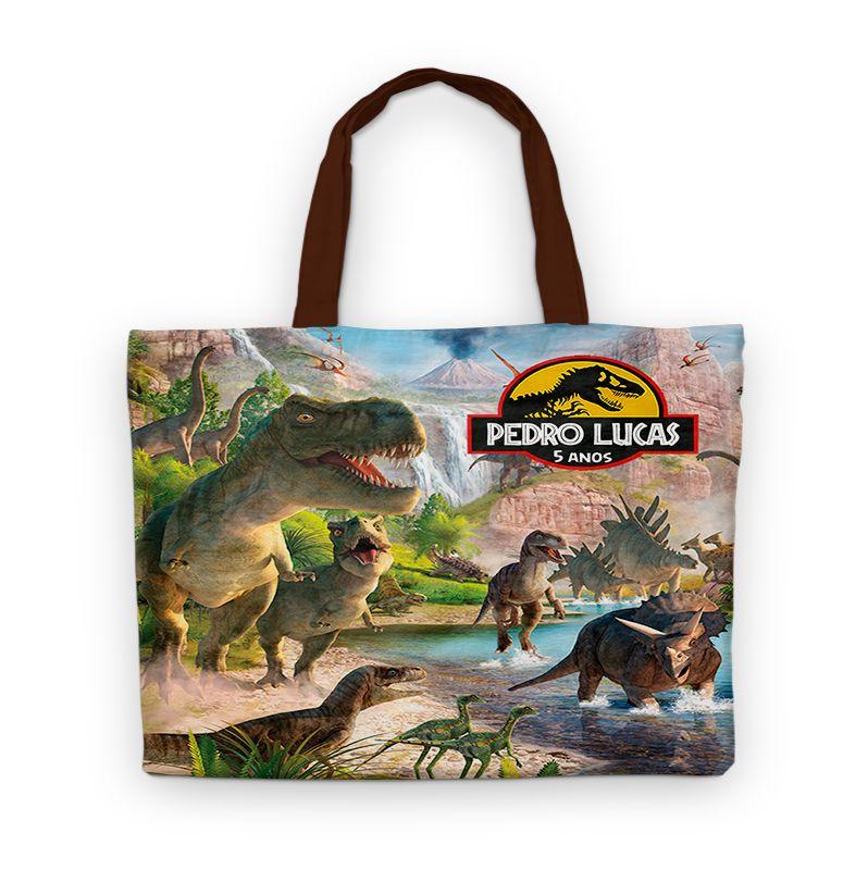 Bolsinha De Nylon Dinossauro Personalizada  - PLACT ZUM