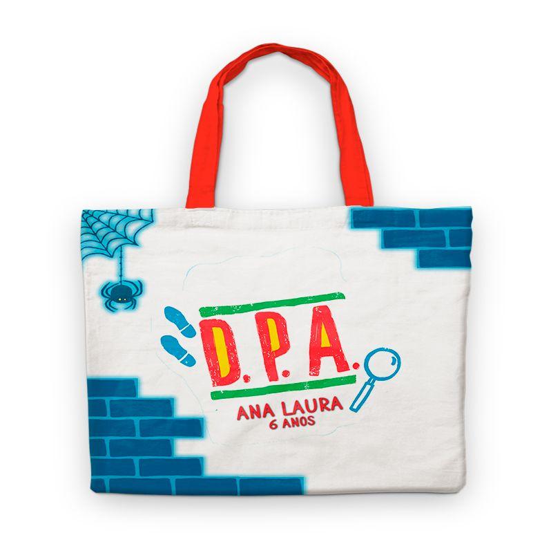 Bolsinha De Nylon Dpa Detetives Do Prédio Azul Personalizada  - PLACT ZUM