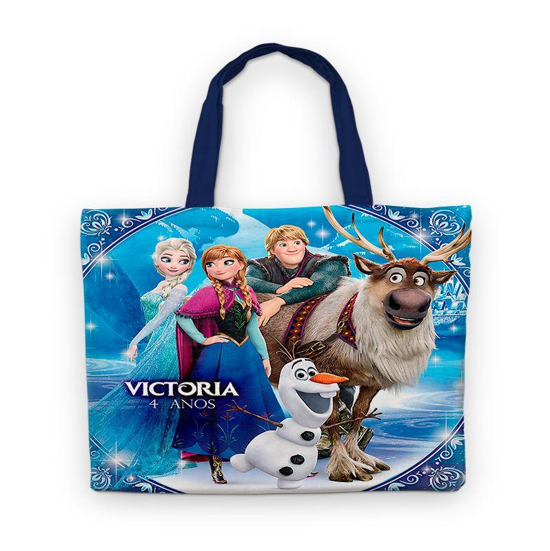 Bolsinha De Nylon Frozen Personalizada  - PLACT ZUM