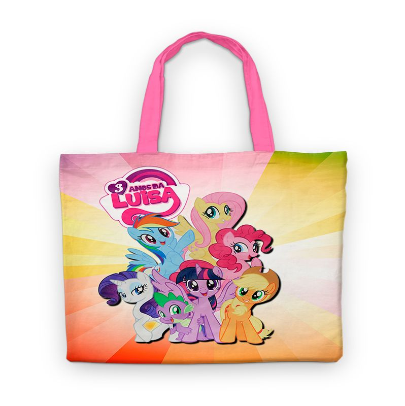 Bolsinha De Nylon My Little Poney Personalizada  - PLACT ZUM