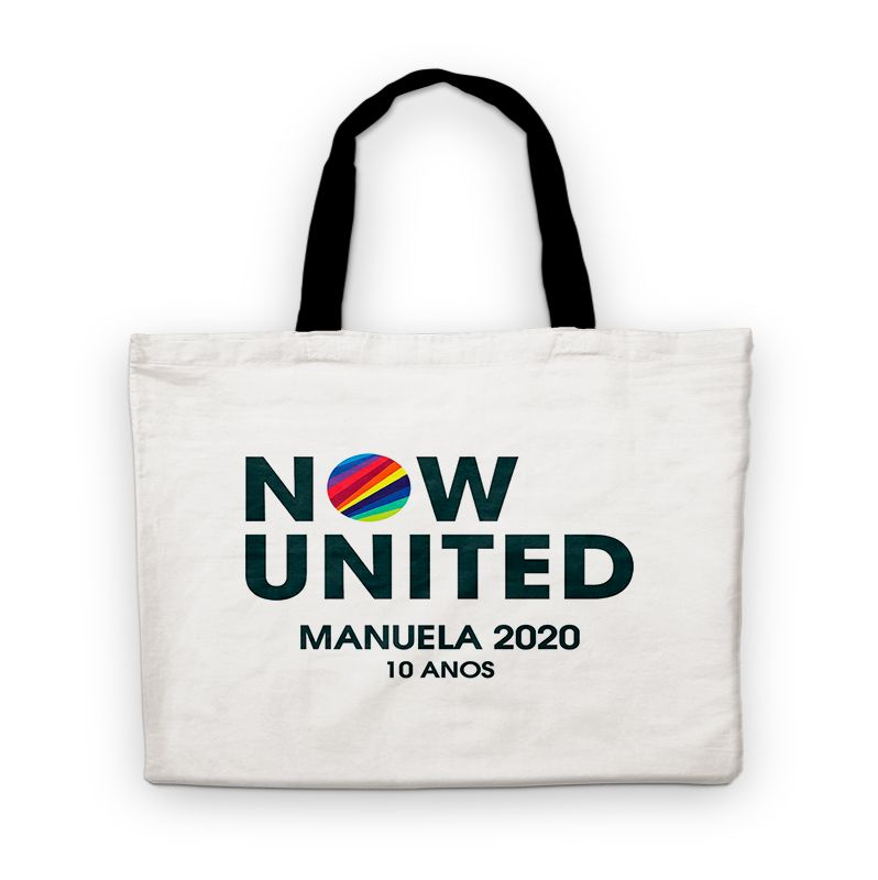 Bolsinha De Nylon Now United Personalizada  - PLACT ZUM
