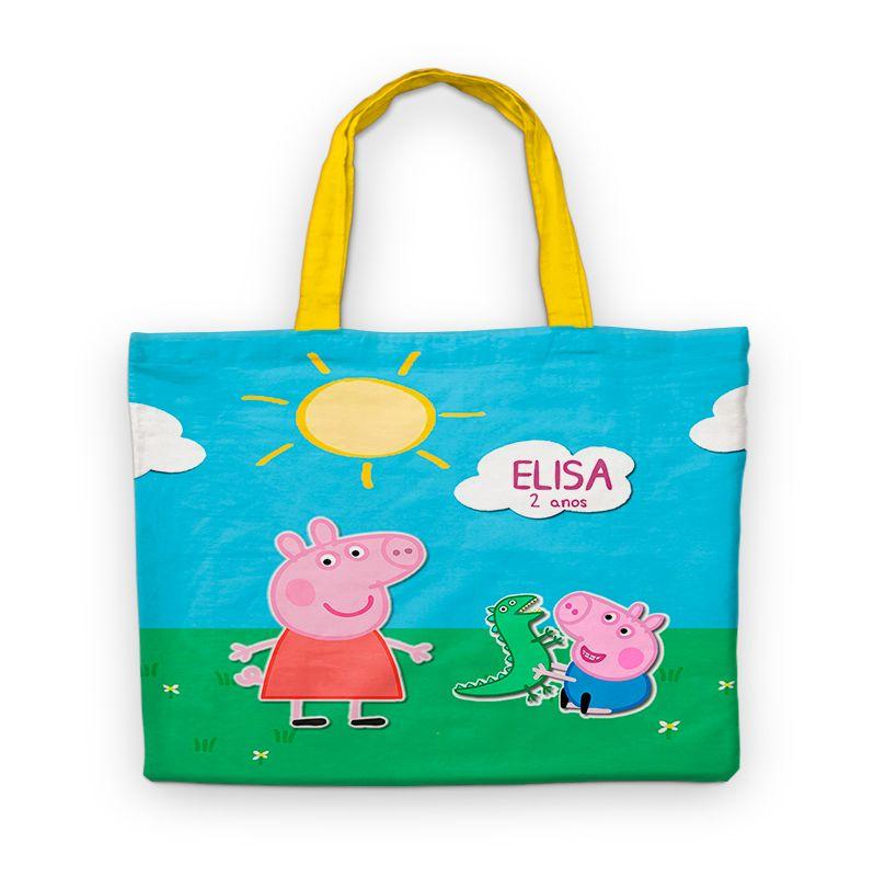 Bolsinha De Nylon Peppa Pig Personalizada  - PLACT ZUM