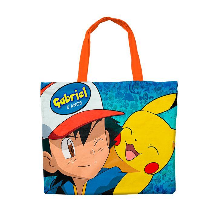 Bolsinha Festa Pokemon Pikachu Lembrancinha  - PLACT ZUM