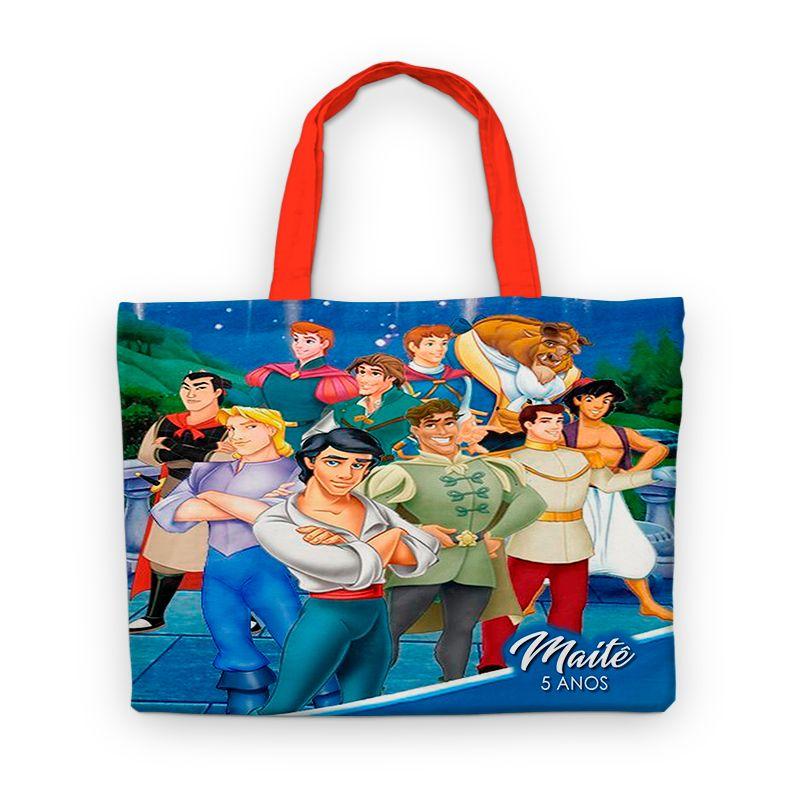 Bolsinha Festa Príncipes Da Disney Lembrancinha  - PLACT ZUM