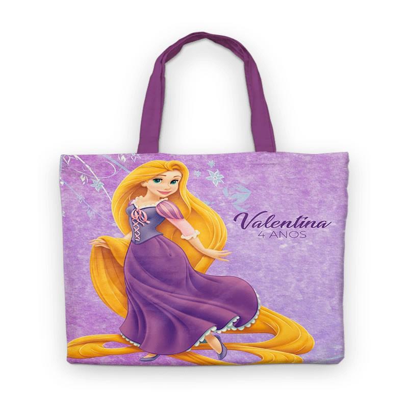Bolsinha De Nylon Rapunzel Enrolados Personalizada  - PLACT ZUM