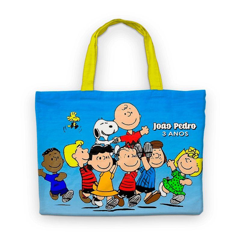 Bolsinha De Nylon Snoopy E Charlie Brown Personalizada  - PLACT ZUM