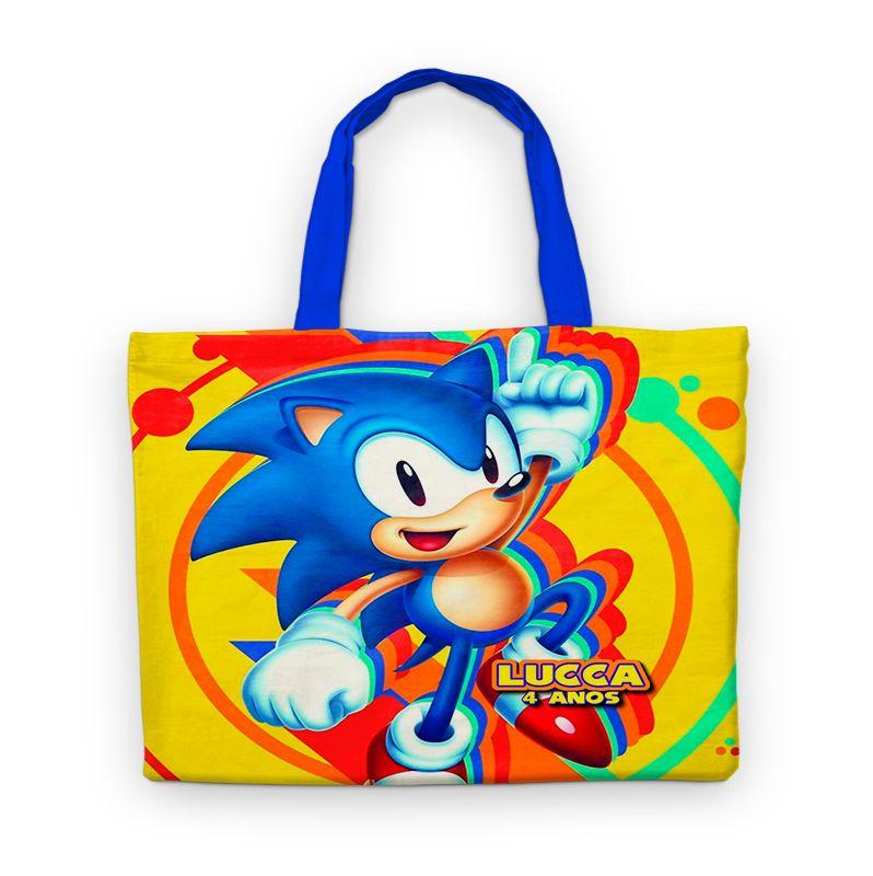 Bolsinha De Nylon Sonic Personalizada  - PLACT ZUM