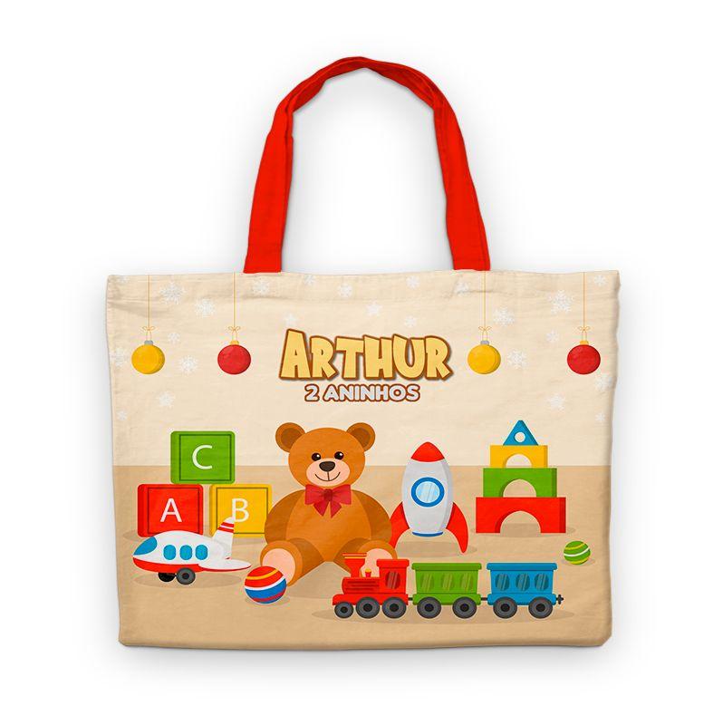 Bolsinha De Nylon Toys Brinquedos Antigos Personalizada  - PLACT ZUM
