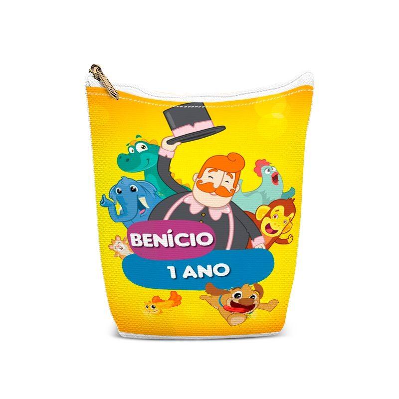 Bolsinha Porta Objetos Festa Mundo Bita E Os Animais  - PLACT ZUM
