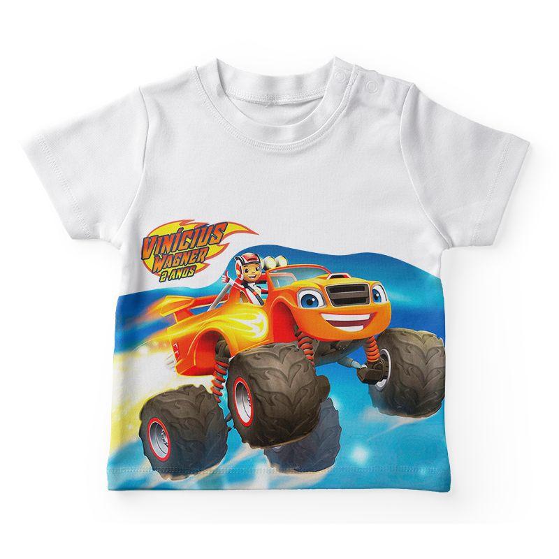 Camiseta Infantil Festa Blaze Monster Machines  - PLACT ZUM