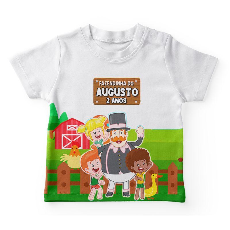 Camiseta Infantil Festa Fazendinha Do Bita Lembrancinha  - PLACT ZUM