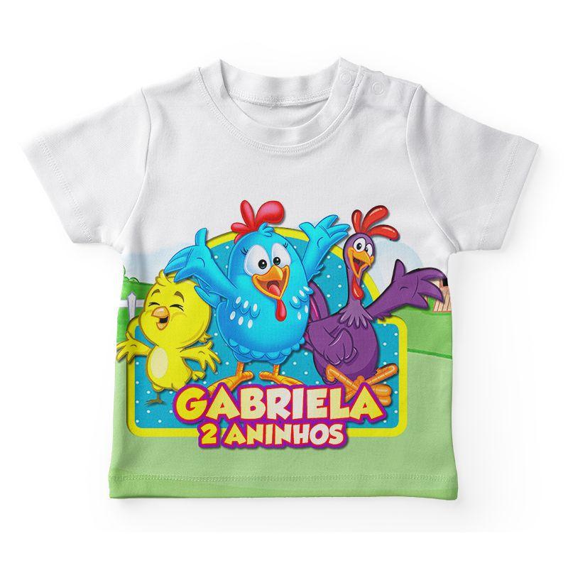 Camiseta Infantil Festa Galinha Pintadinha Lembrancinha  - PLACT ZUM
