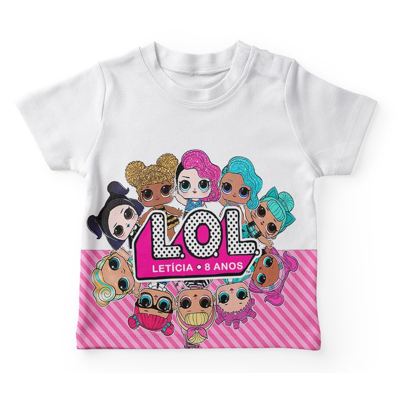 Camiseta Infantil Festa Lol Surprise Lembrancinha  - PLACT ZUM