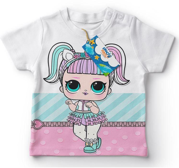 Camiseta Infantil Festa Lol Surprise Unicórnio Lembrancinha  - PLACT ZUM