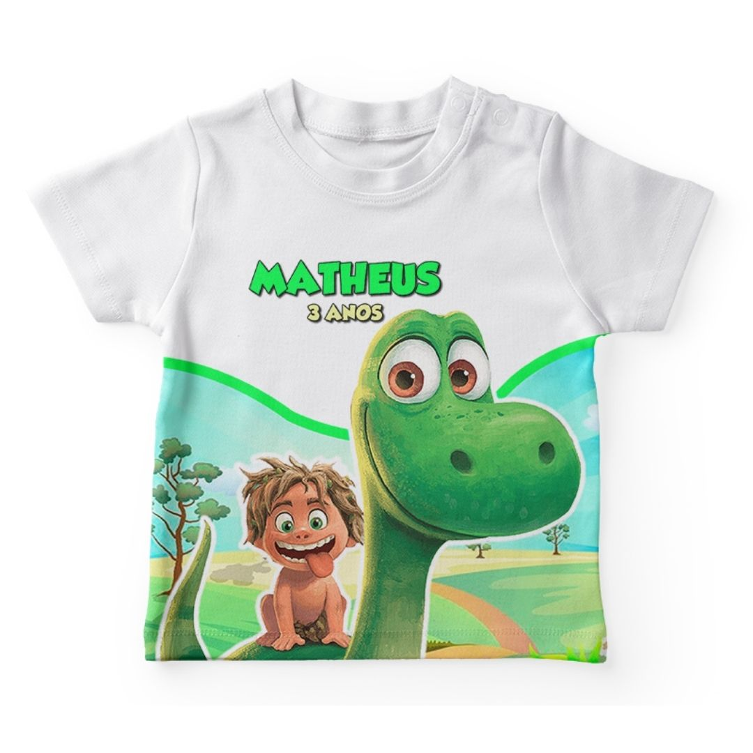 Camiseta Infantil Festa Bom Dinossauro  Kit com 20  - PLACT ZUM